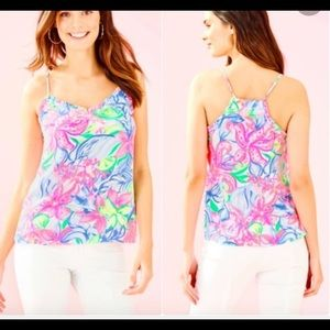 Lilly Pulitzer Ruffled Dusk Top
